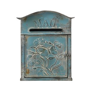 Distressed Embossed Tin Wall Mounted Mailbox