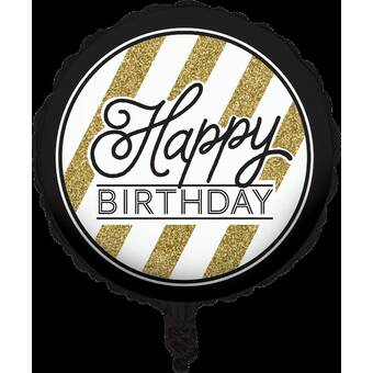Creative Converting Black and Gold 40th Birthday Mylar