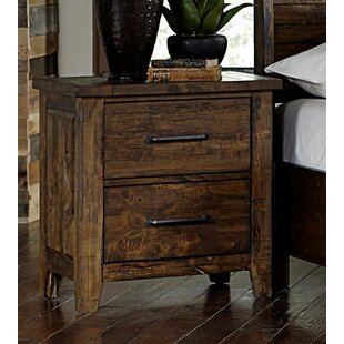 Caenas Wooden 2 Drawer Nightstand by Loon Peak