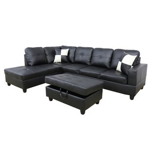Wellington Living Room Sectional with Ottoman