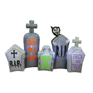 Halloween Tombstone Pathway Inflatable by The Holiday Aisle