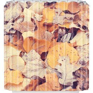 Fallen Leaves Single Shower Curtain