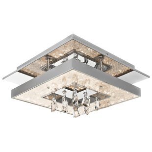 Élan Lighting Crushed Ice™ 1-Light Flush Mount