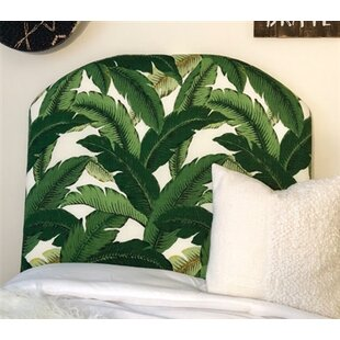 Houghtaling Leaf Arched Twin/Twin XL Upholstered Panel Headboard by Zoomie Kids