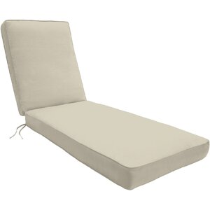 Double-Piped Outdoor Chaise Lounge Cushion