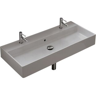 Hox 20-inch Ceramic Wall Mounted Bathroom Sink