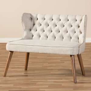 Sempronius Wood Upholstered Button-Tufting L..