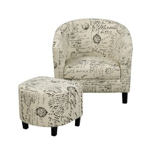 Dovray Living Room Armchair with Ottoman by One Allium Way