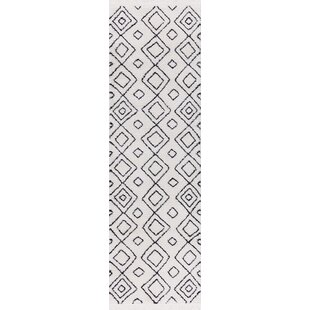 Compare prices Hervey White/Charcoal Area Rug By Bloomsbury Market