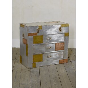 Aluminium And Copper 3 Drawer Chest Of Drawers By Williston Forge