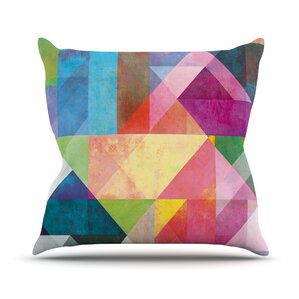 Color Blocking by Mareike Boehmer Rainbow Abstract Throw Pillow