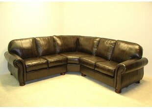 Dynamic Leather Sectional by Wildon Home®
