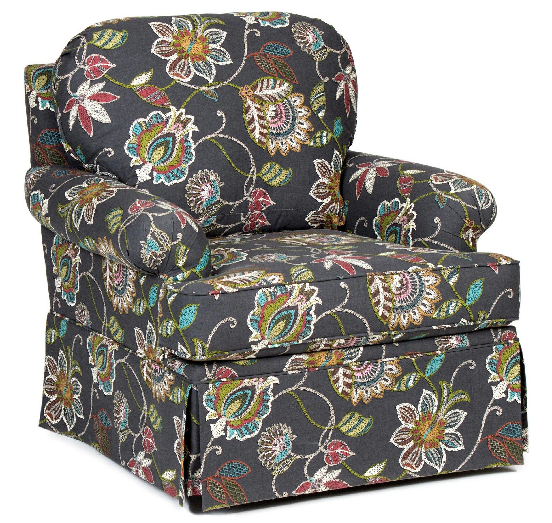Red Barrel Studio Harlen Upholstered Swivel Rocker Armchair | Wayfair