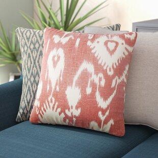 Barkbridge Bufford Ikat Linen Throw Pillow
