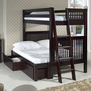 Oakwood Twin over Full Bunk Bed with Storage