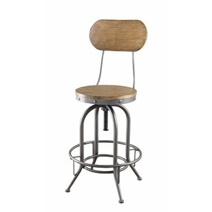 Eglinton Adjustable Height Swivel Bar Stool Set of 2 by 17 Stories