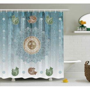 Beecroft Totem Zen Boho Sun Cats Shower Curtain ByBloomsbury Market