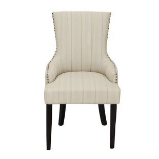 Adeco Trading Fabric Straight Stripe Arm Chair (Set of 2)