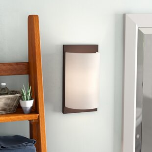 Compare prices Alina 1-Light Wall Sconce By Ivy Bronx