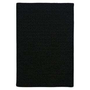 Glasgow Braided Black Indoor/Outdoor Area Rug