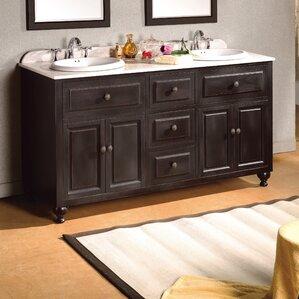 london 60 double bathroom vanity set