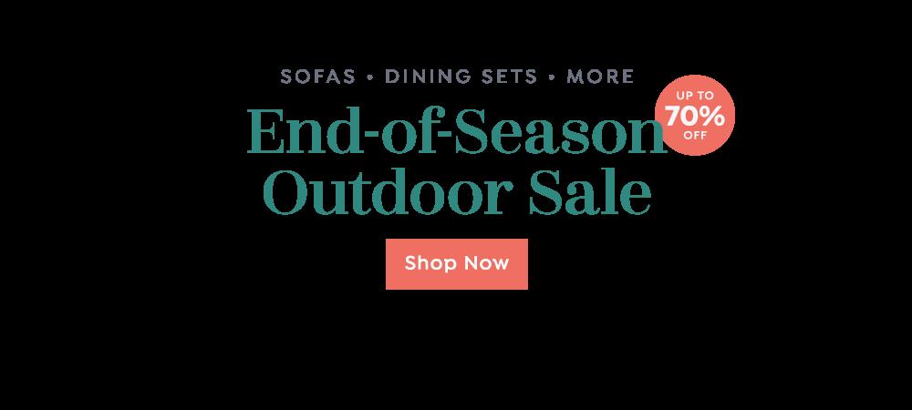 End-of-Season Outdoor Sale