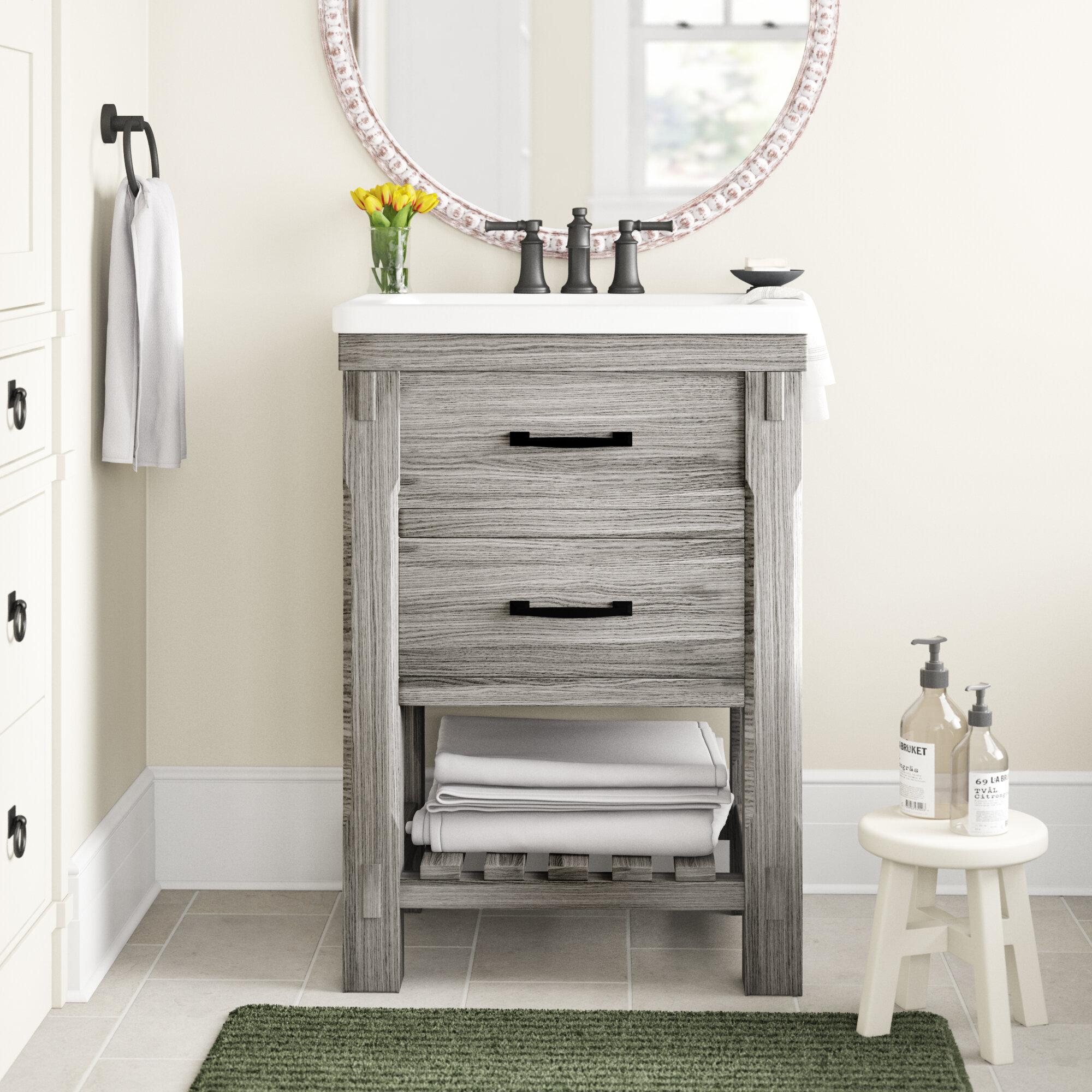 Three Posts Sprowston Rustic 24 Single Bathroom Vanity Set Reviews Wayfair
