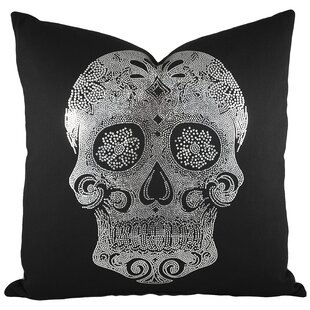 Bon Sugar Skull Cotton Throw Pillow I