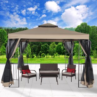 Garden 10 Ft. W x 10 Ft. D Steel Patio Gazebo by Cloud Mountain Inc.