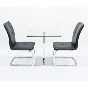 Derose Dining Set With 2 Chairs By Metro Lane