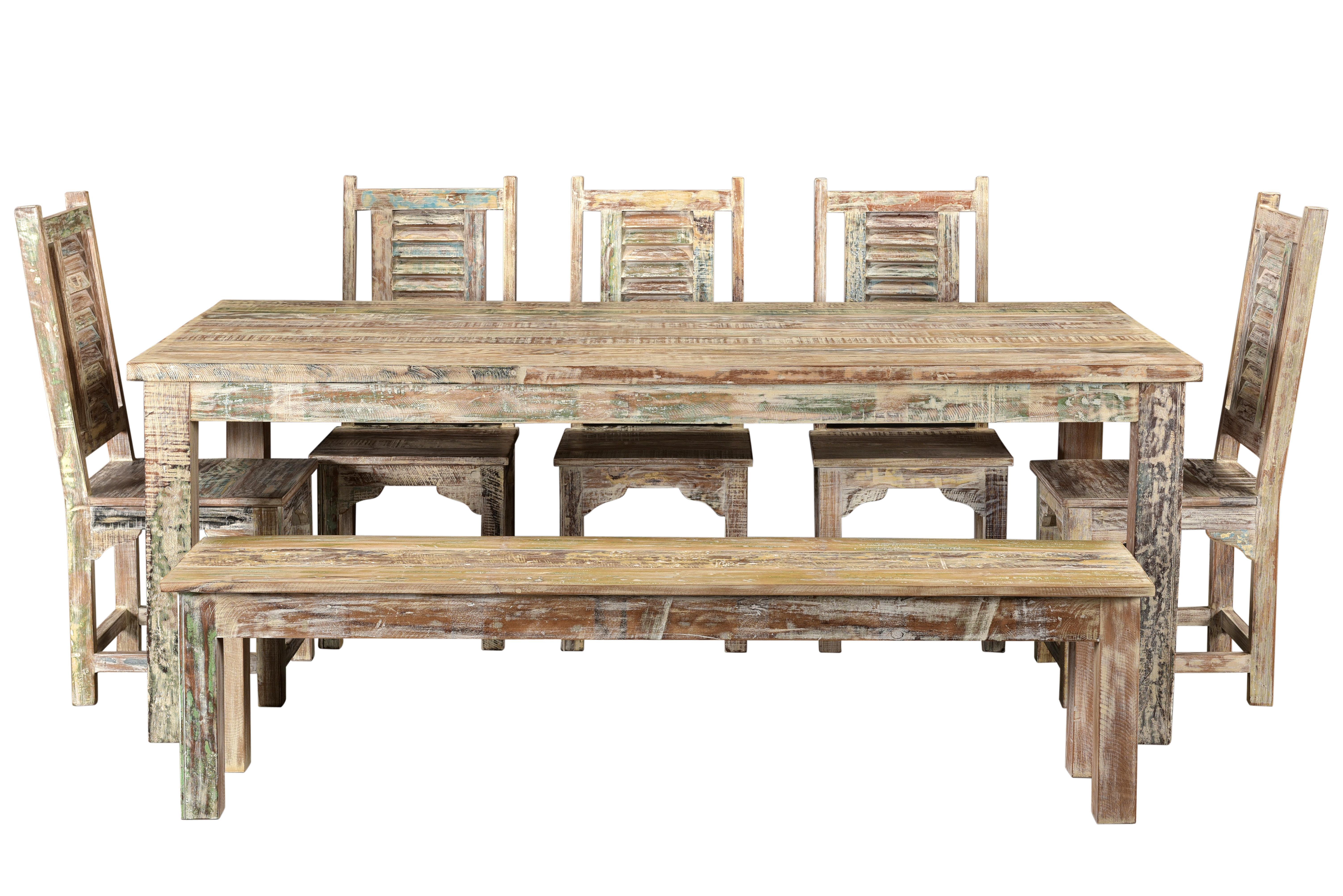 Marvelous 7 Piece Solid Wood Dining Set Ibusinesslaw Wood Chair Design Ideas Ibusinesslaworg