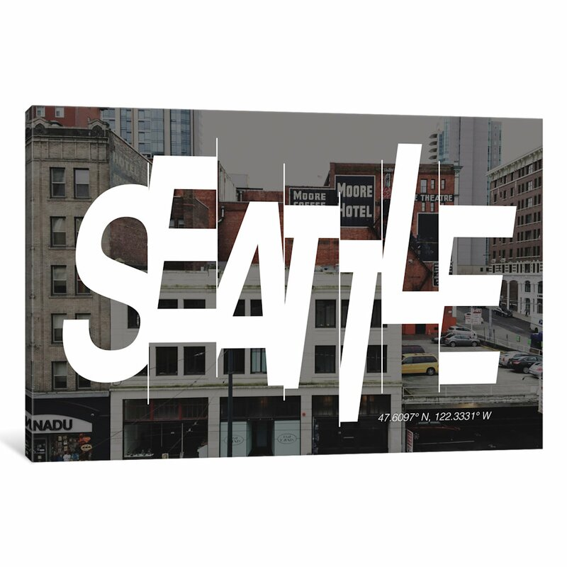 East Urban Home Seattle 47 6 N 122 3 W Graphic Art On Wrapped Canvas Wayfair