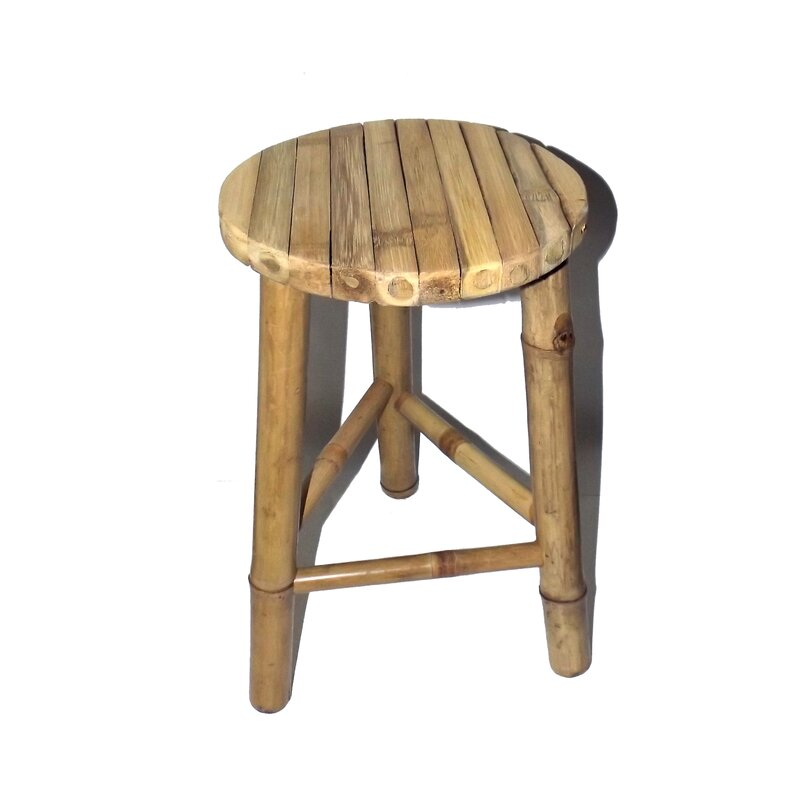 Khalid Small Bamboo Stool