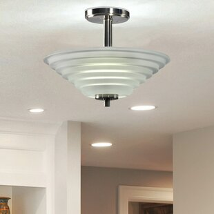 Soloman 1-Light Semi Flush Mount by Springdale Lighting