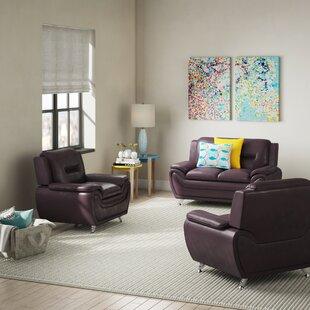 Juliano Modern 3 Piece Living Room Set by Orren Ellis