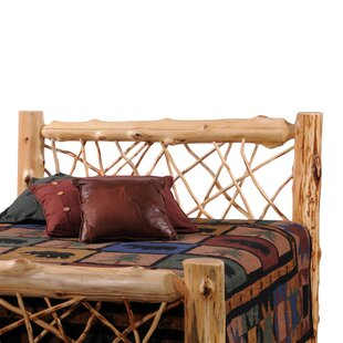 Traditional Cedar Log Wood Headboard by Fireside Lodge