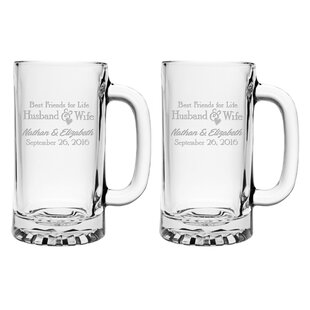 Best Friends for Life Pub Beer Mug (Set of 2)
