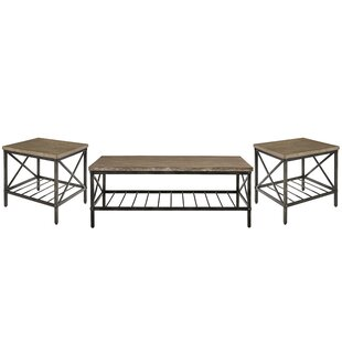 Compare prices Metrodora 3 Piece Coffee Table Set ByWilliston Forge