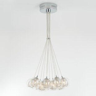 Ammons Suspended 12-Light Cluster Pendant by Ivy Bronx