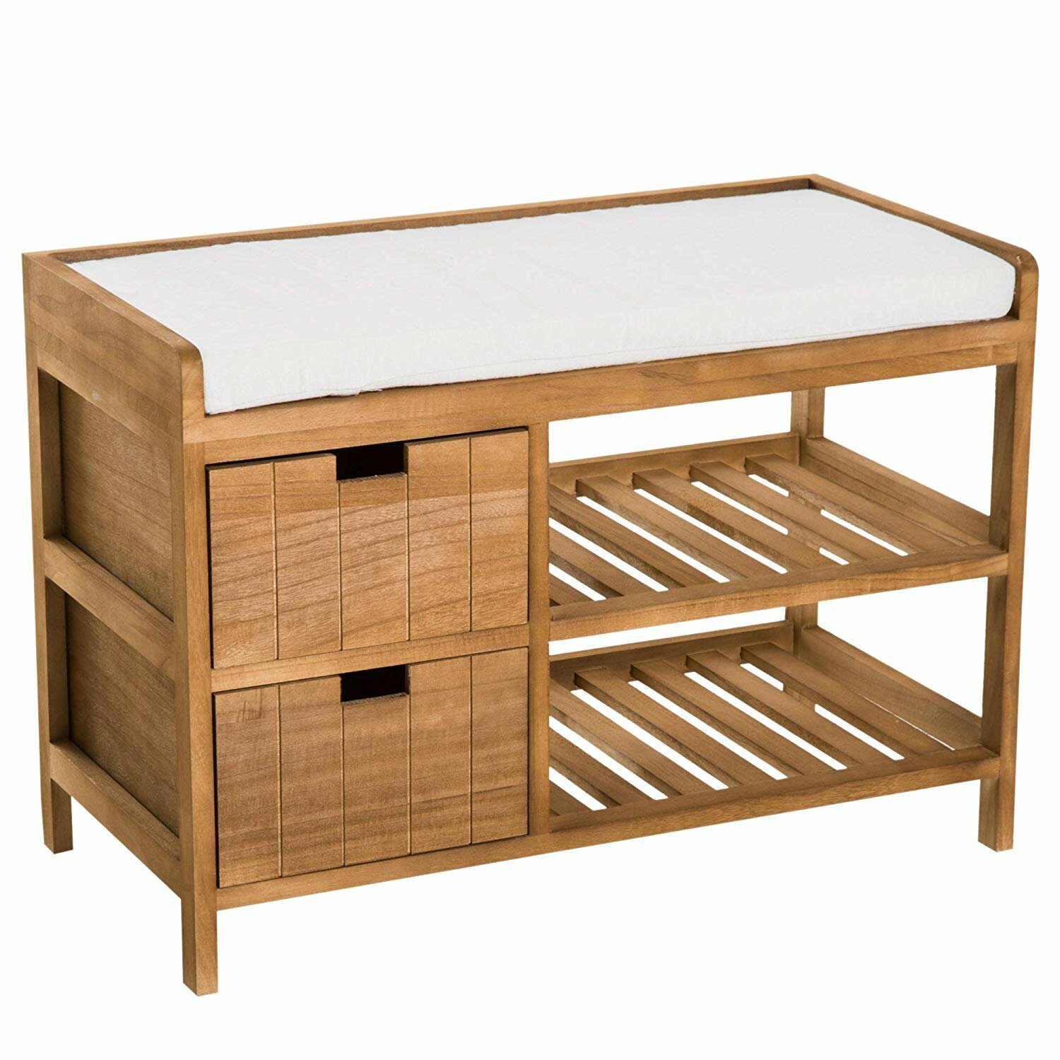 Zeke 2 Tier Wooden Shoe Storage Bench
