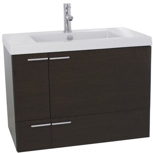 New Space 39 Wall-Mounted Single Bathroom Vanity Set by Nameeks Vanities