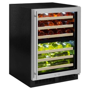 40 Bottle High-Efficiency Dual Zone Built-In Wine Cooler by Marvel