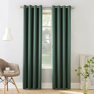 Groton Solid Room Darkening Grommet Single Curtain Panel by Sun Zero