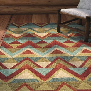 Madison Hand-Hooked Red Indoor/Outdoor Area Rug