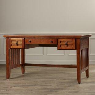 Ferryhill Solid Wood Writing Desk by Three Posts