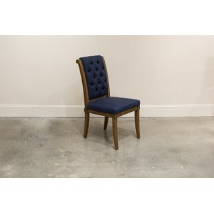 Estabrook Upholstered Dining Chair (Set of 2) Charlton Home