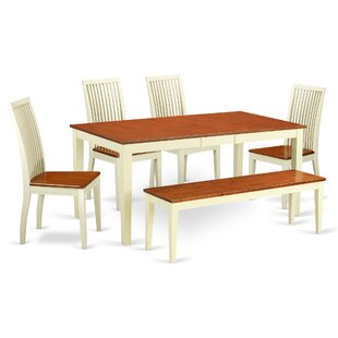 Pillar 6 Piece Solid Wood Dining Set by A..