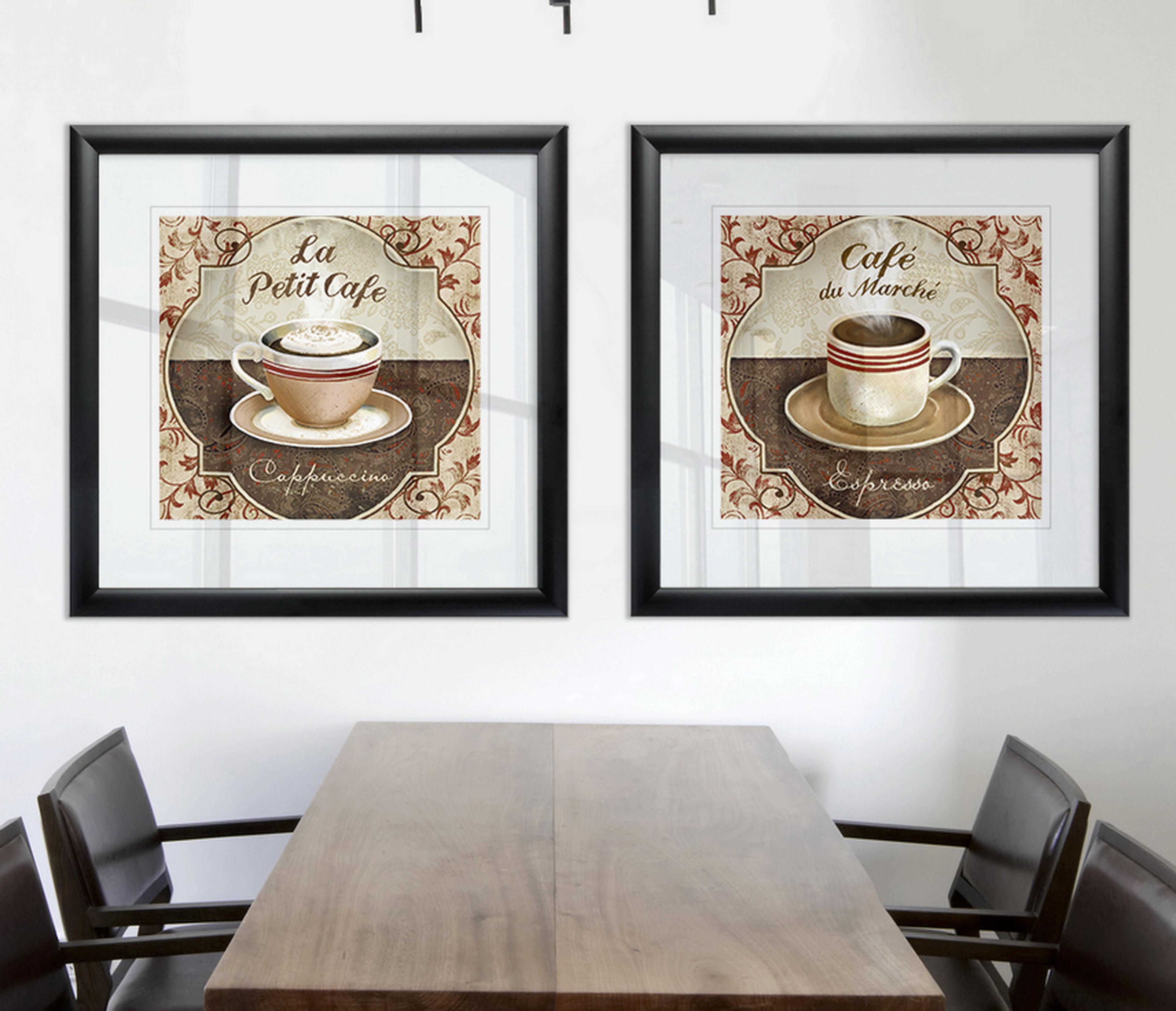 Winston Porter Cappuccino 2 Piece Framed Print Set Wayfair