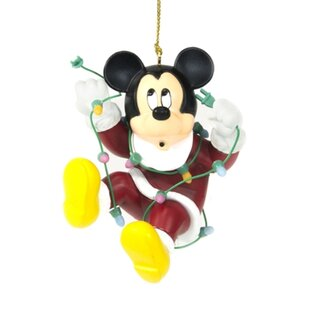 disney mickey mouse christmas ornament hanging figurine