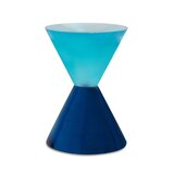Neo Geo Bowtie Drum End Table by Jonathan Adler
